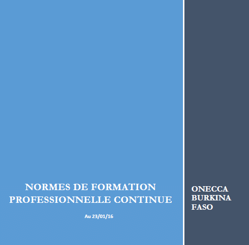 Couverture normes FPC ONECCA BF
